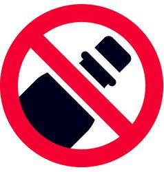 No plastic bottle forbidden sign vector