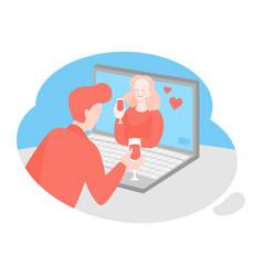 Online date virtual love vector