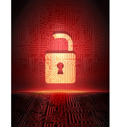 Opened padlock vector