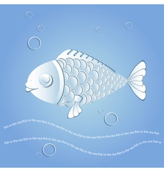 Paper fish vector image