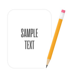 pencils with space for text vector image
