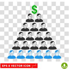 ponzi pyramid scheme eps icon vector image