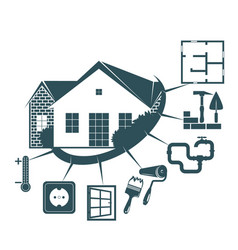 Repair of a housing symbol for business vector