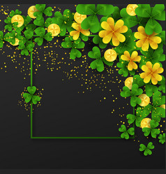saint patrick s day border with green and gold vector image