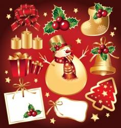 set of new year symbols vector image vector image