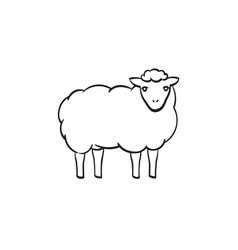 sheep hand drawn sketch icon vector image