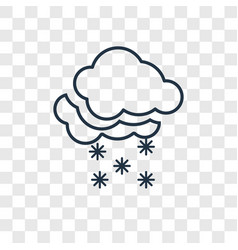 snowy concept linear icon isolated on transparent vector image