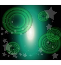 Star and circle dark green background desig vector