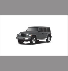 Stylish 3d army jeep car vector