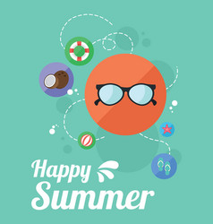 summer beach night party holiday poster vector image