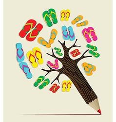 Summer tree pencil concept vector