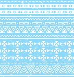 Tribal geometric aztec pattern - grunge retro vector image