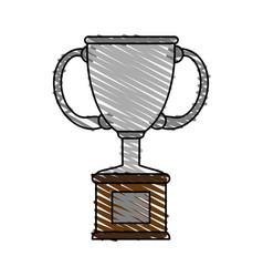 trophy doodle vector image