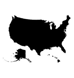 Usa geographic map with alaska and hawaii isolated vector