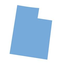 Utah state map vector