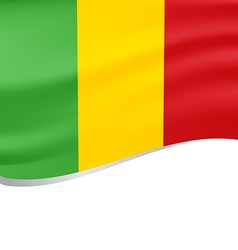 Waving flag of mali isolated on white vector