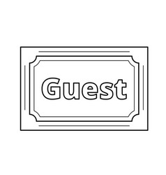 wedding card for guest line icon vector image