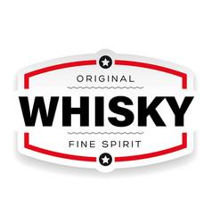 Whisky vintage label sign vector