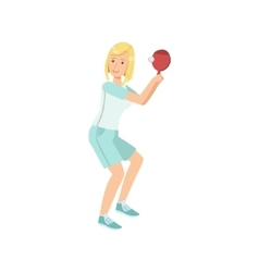 Woman Playing Table Tennis vector image