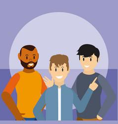 Young mens friends vector