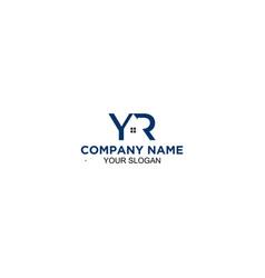 Yr home logo design vector