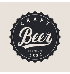 Beer logo lettering for logotype label badge and vector image