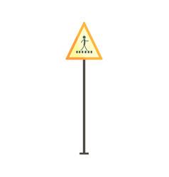 pedestrian crossing traffic sign vector image vector image