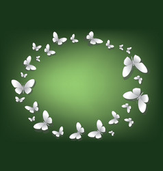 abstract green background with white paper vector image