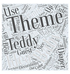baby shower themes Word Cloud Concept vector image vector image