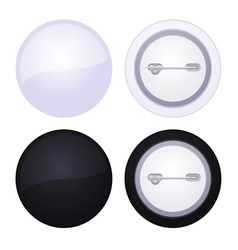 Blank button badge isolated on white vector image vector image