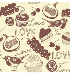 Cupcakes Confectionery Pattern vector image vector image