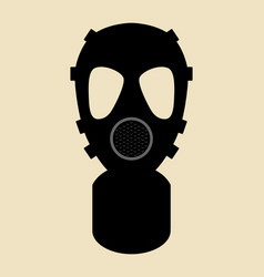 gas mask pictogram vector image
