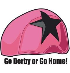 Go Derby vector image vector image