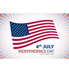 Happy independence day United States of America vector image vector image