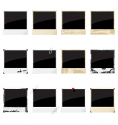 instant photo frames vector image vector image