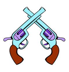 Old revolvers icon icon cartoon vector