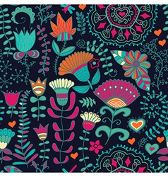Seamless floral pattern Copy square to the side vector image