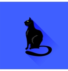 Sitting Cat Icon vector image