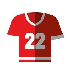 american football shirt icon vector image