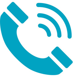 business networking telephone icon vector image