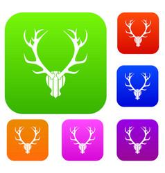 deer antler set collection vector image