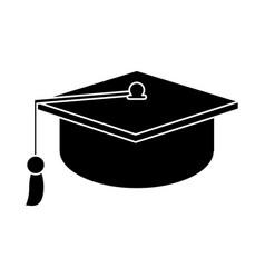 gaduation cap education symbol pictogram vector image
