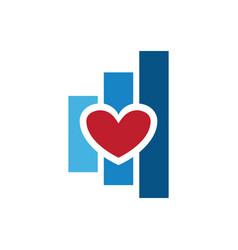 love chart finance logo vector image vector image