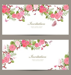 lovely collection horizontal banners with vintage vector image