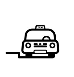 taxi cab on street vector image vector image