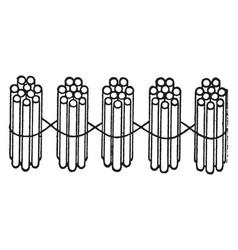 5 bundles of ten sticks vintage vector