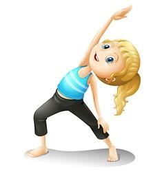 A girl exercising vector image