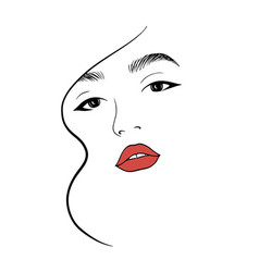 abstract female face 2 vector image