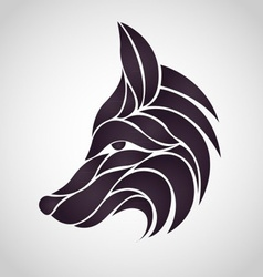 Abstract Fox Logo vector image