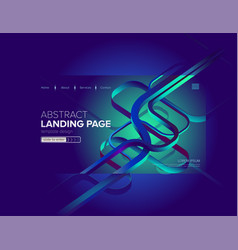 abstract landing page design vector image
